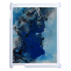 Blue Abstract No 2 Apple Ipad 2 Case (white) by timelessartoncanvas