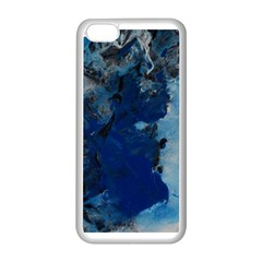 Blue Abstract No 2 Apple Iphone 5c Seamless Case (white)