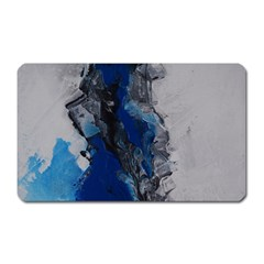 Blue Abstract No 3 Magnet (rectangular) by timelessartoncanvas