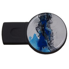 Blue Abstract No 3 Usb Flash Drive Round (2 Gb)  by timelessartoncanvas
