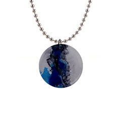 Blue Abstract No 3 Button Necklaces by timelessartoncanvas