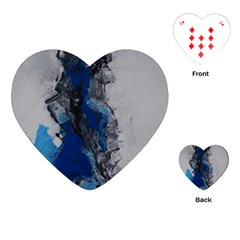 Blue Abstract No 3 Playing Cards (heart)