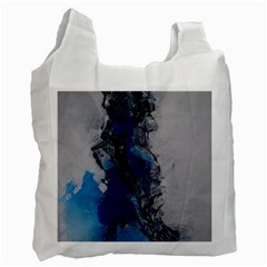 Blue Abstract No 3 Recycle Bag (one Side) by timelessartoncanvas