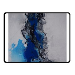 Blue Abstract No 3 Fleece Blanket (small) by timelessartoncanvas