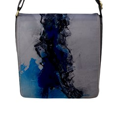 Blue Abstract No 3 Flap Messenger Bag (l)  by timelessartoncanvas