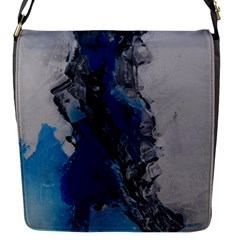 Blue Abstract No 3 Flap Messenger Bag (s) by timelessartoncanvas