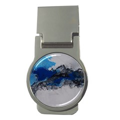 Blue Abstract No 4 Money Clips (round)
