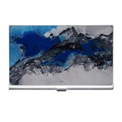 Blue Abstract No 4 Business Card Holders by timelessartoncanvas