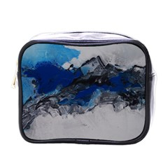 Blue Abstract No 4 Mini Toiletries Bags by timelessartoncanvas