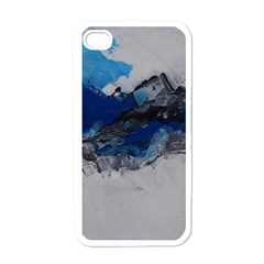 Blue Abstract No 4 Apple Iphone 4 Case (white)