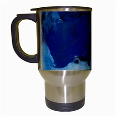Blue Abstract No 5 Travel Mugs (white) by timelessartoncanvas