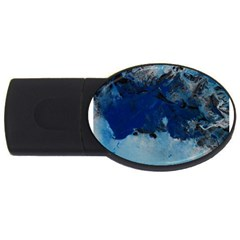 Blue Abstract No 5 Usb Flash Drive Oval (4 Gb)  by timelessartoncanvas