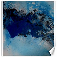 Blue Abstract No 5 Canvas 16  X 16