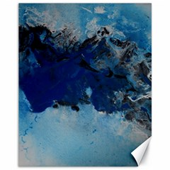 Blue Abstract No 5 Canvas 11  X 14   by timelessartoncanvas