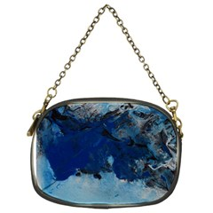 Blue Abstract No 5 Chain Purses (one Side)  by timelessartoncanvas
