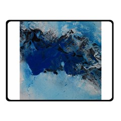 Blue Abstract No 5 Fleece Blanket (small) by timelessartoncanvas