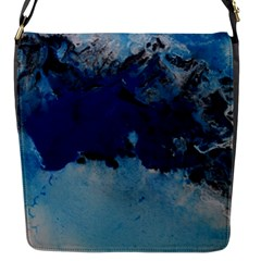 Blue Abstract No 5 Flap Messenger Bag (s) by timelessartoncanvas
