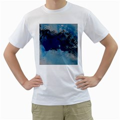 Blue Abstract No 5 Men s T-shirt (white)  by timelessartoncanvas