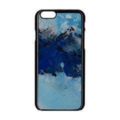 Blue Abstract No 5 Apple Iphone 6 Black Enamel Case by timelessartoncanvas