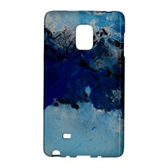 Blue Abstract No 5 Galaxy Note Edge by timelessartoncanvas