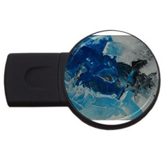 Blue Abstract No  6 Usb Flash Drive Round (2 Gb)  by timelessartoncanvas