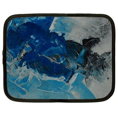 Blue Abstract No  6 Netbook Case (large)