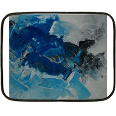 Blue Abstract No  6 Fleece Blanket (mini) by timelessartoncanvas