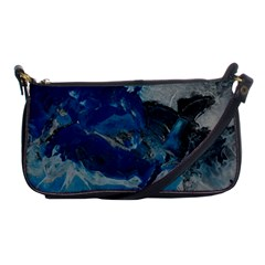 Blue Abstract No  6 Shoulder Clutch Bags by timelessartoncanvas