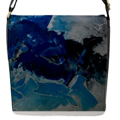 Blue Abstract No  6 Flap Messenger Bag (s) by timelessartoncanvas