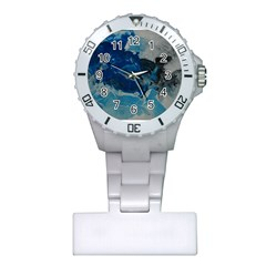 Blue Abstract No  6 Nurses Watches by timelessartoncanvas