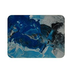 Blue Abstract No  6 Double Sided Flano Blanket (mini)