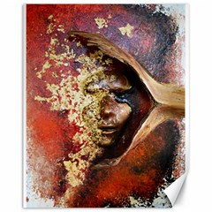 Red Mask Canvas 11  X 14   by timelessartoncanvas