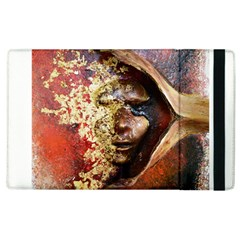 Red Mask Apple Ipad 2 Flip Case by timelessartoncanvas