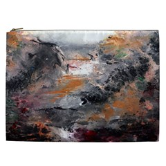 Natural Abstract Landscape Cosmetic Bag (xxl)