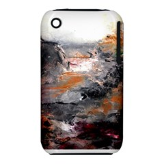 Natural Abstract Landscape Apple Iphone 3g/3gs Hardshell Case (pc+silicone) by timelessartoncanvas
