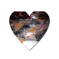 Natural Abstract Landscape No  2 Heart Magnet by timelessartoncanvas
