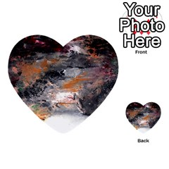 Natural Abstract Landscape No  2 Multi-purpose Cards (heart)