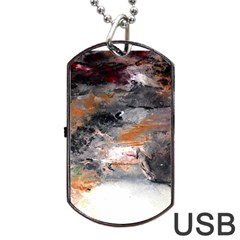 Natural Abstract Landscape No  2 Dog Tag Usb Flash (one Side) by timelessartoncanvas