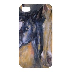 2 Horses Apple Iphone 4/4s Hardshell Case by timelessartoncanvas
