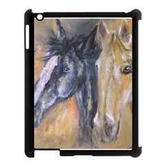 2 Horses Apple Ipad 3/4 Case (black) by timelessartoncanvas