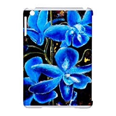 Bright Blue Abstract Flowers Apple Ipad Mini Hardshell Case (compatible With Smart Cover) by timelessartoncanvas