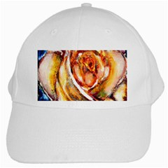 Abstract Rose White Cap
