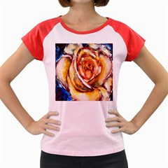 Abstract Rose Women s Cap Sleeve T Shirt by timelessartoncanvas
