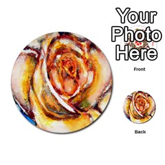 Abstract Rose Multi Purpose Cards (round)  by timelessartoncanvas