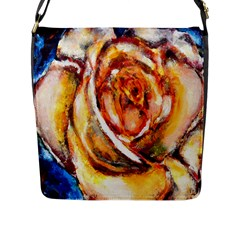 Abstract Rose Flap Messenger Bag (l)  by timelessartoncanvas