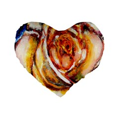 Abstract Rose Standard 16  Premium Flano Heart Shape Cushions