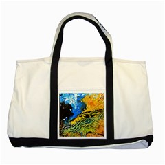 Landlines Two Tone Tote Bag  by timelessartoncanvas