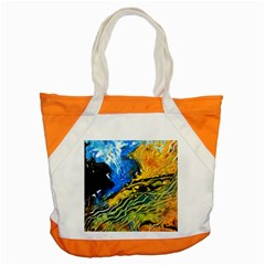 Landlines Accent Tote Bag  by timelessartoncanvas
