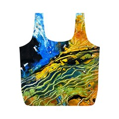 Landlines Full Print Recycle Bags (m)  by timelessartoncanvas