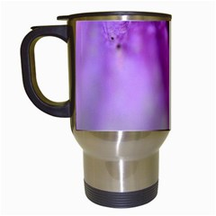 Purple Flower Pedal Travel Mugs (white) by timelessartoncanvas